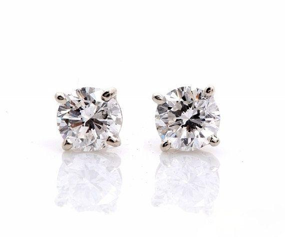 Charmisma 2ct Stardust Diamond Stud Platinum Plated Silver Earrings JLdFKmUouL