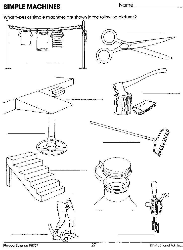 simple machines worksheet   Homeschool Science   Pinterest ...