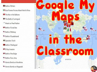 Read my BLOGPOST about using Google My Maps in the classroom. From Chalk Dust…