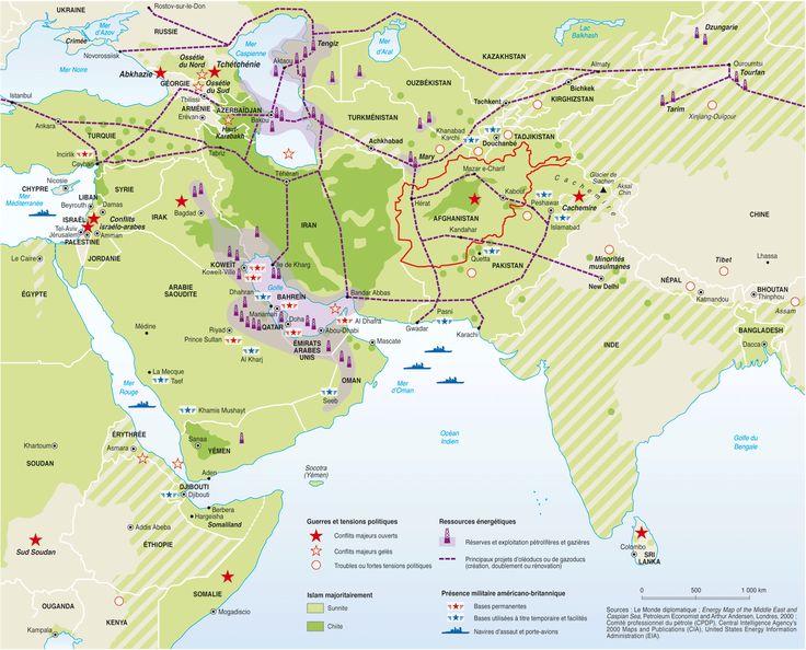 Du Golfe à la Chine, des conflits à haut risque , par Philippe Rekacewicz (Le Monde diplomatique, novembre 2001)
