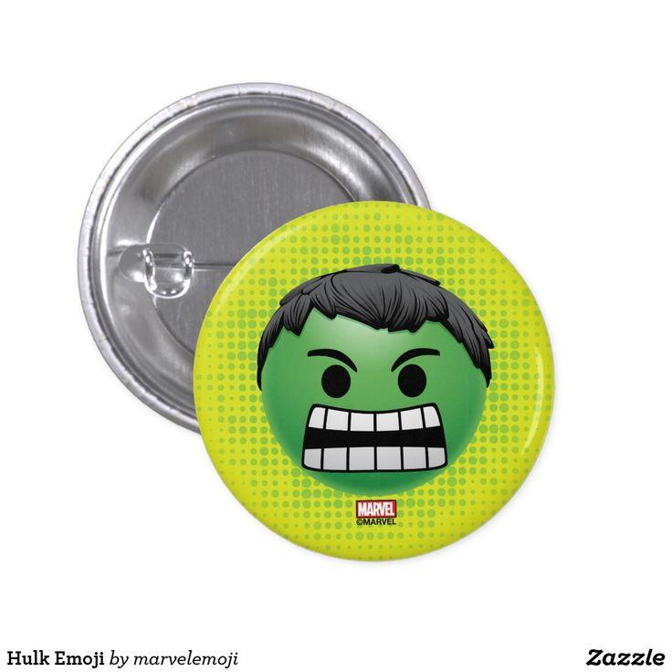 Hulk Emoji. Producto disponible en tienda Zazzle. Product available in Zazzle store. Regalos, Gifts. #chapa #button