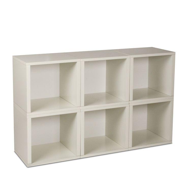 Way Basics Modular 6 Cube Bookcase   White   $120.99 @