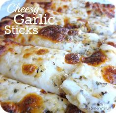 Six Sisters Cheesy Garlic Sticks go perfect with any meal!