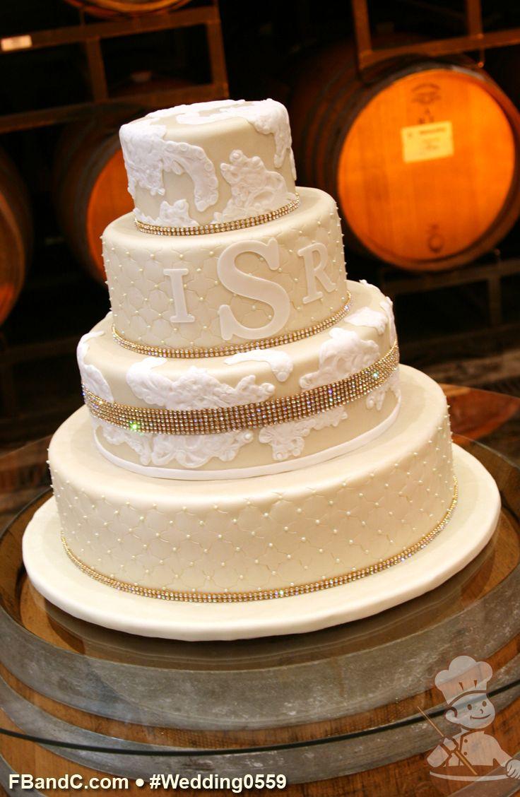 Cake With Fondant Lace : 101 best Fondant Wedding Cakes images on Pinterest