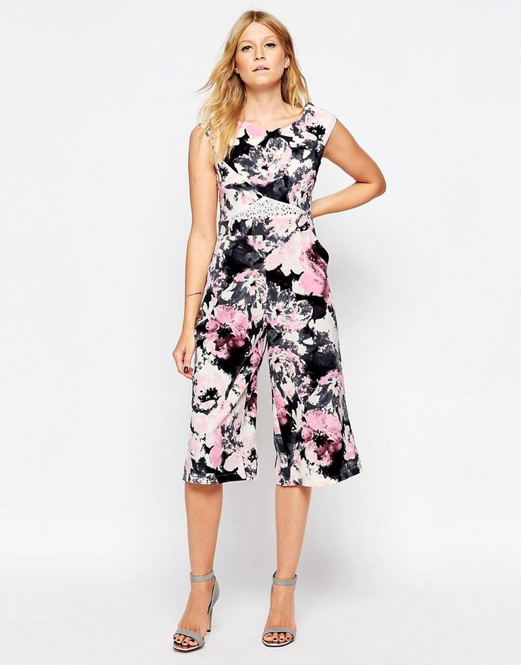 Liquorish+Culotte+Jumpsuit+with+Lace+Insert+in+Floral+