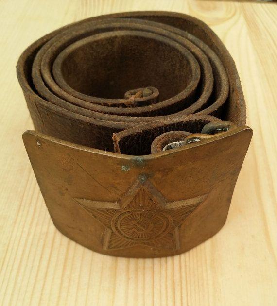 Soviet Army Belt  Soviet vintage Army belt от USSRVintageShopUSSR