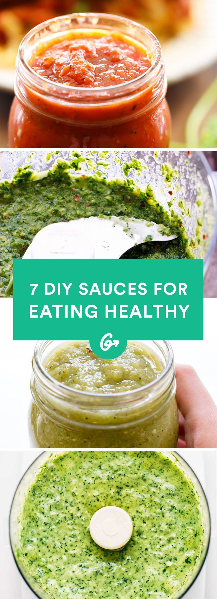 Sometimes we need a little something extra to keep things interesting. Which is when we turn to sauce. #healthy #sauces http://greatist.com/eat/sauce-recipes-spice-up-meal