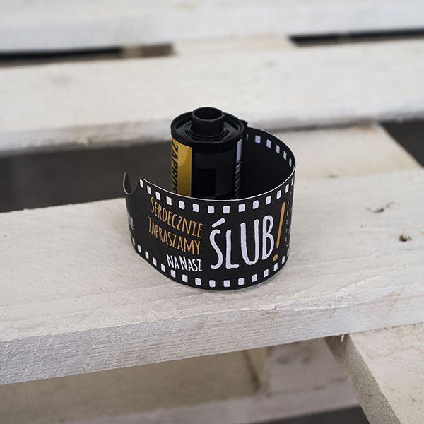wedding invitation in film roll