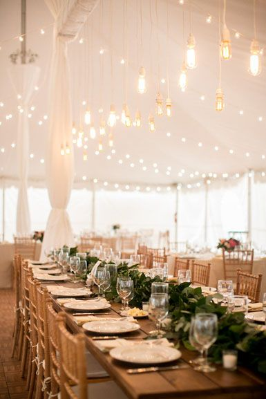 Head Table Foliage Garland In Silver Dollar Eucalyptus And