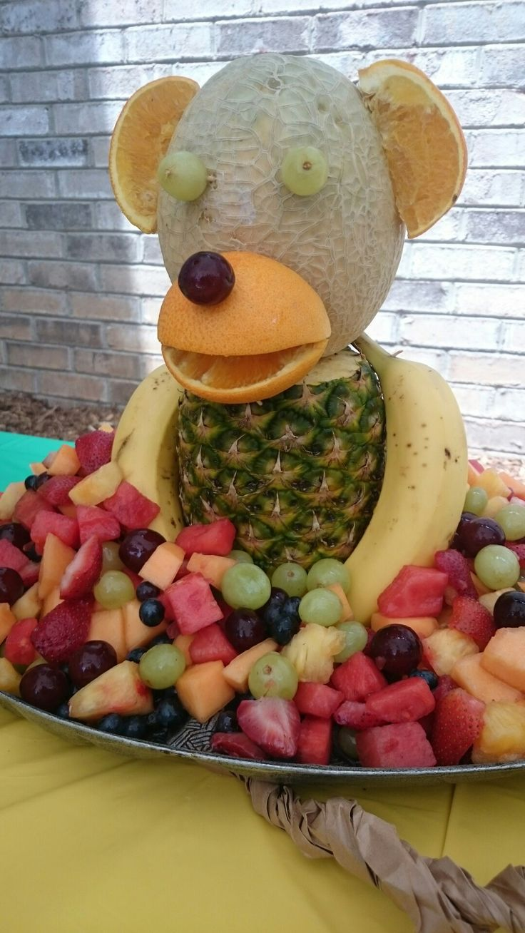 Monkey party fruit tray (graduation party foods)