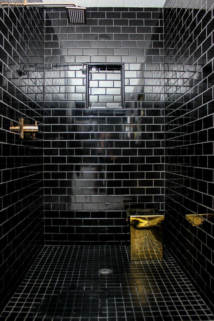 Renovated Split Level Home Black Tile Bathrooms Bathroom Remodel Designs Bathroom Remodel Master