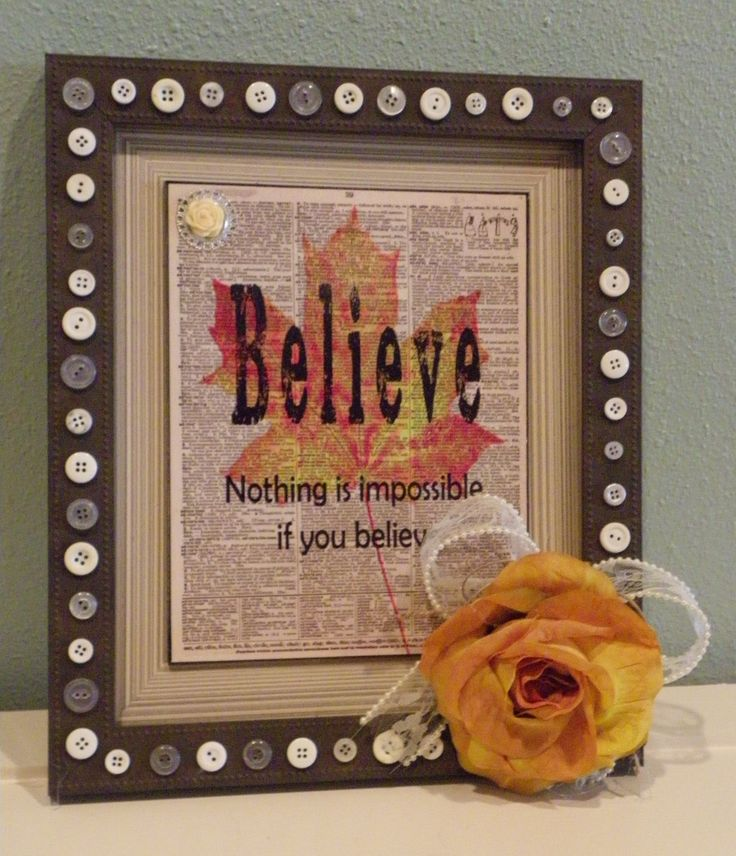 Cottage Chic Shabby Country Style Wall Art Word Believe