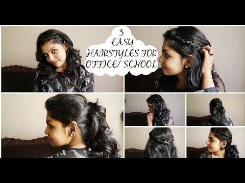 3 Coiffures rapides et faciles pour le travail / l'école - Pas de chaleur Je vous montre trois coiffures simples, rapides et faciles qui conviennent au travail ou à l'école / au collège