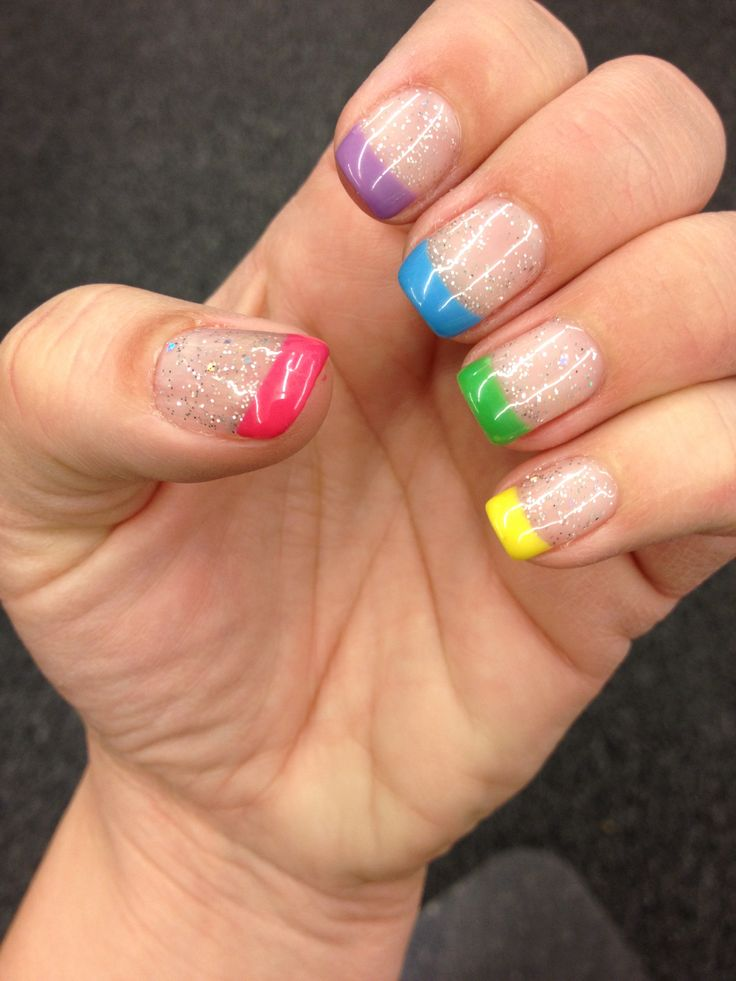 61 best nail designs images on pinterest hair dos nail scissors shellac spring colored french tips i got nailed by jensuelong shellac designsnail prinsesfo Images