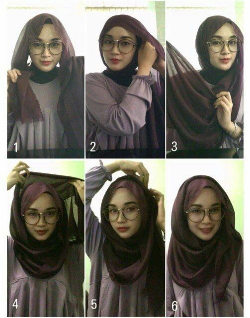 Hijab tutorial for specs wearers