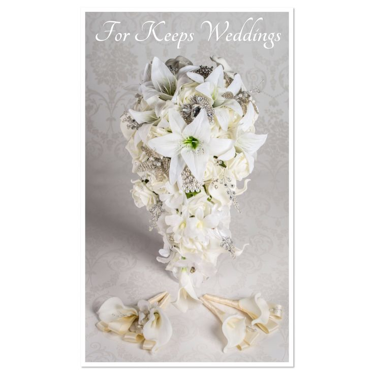 Real touch of elegance with these real touch calla and tiger lilies. Trailing bouquet with coordinating items X Stunning! www.forkeepsweddings.co.uk