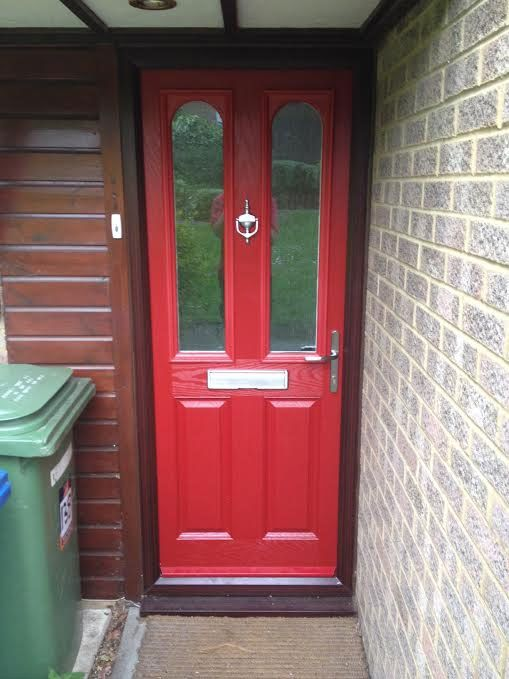 2 Panel 2 Arch Glazed Composite Front Door in Red & 17 best front doors mock tudor house images on Pinterest | Tudor ...