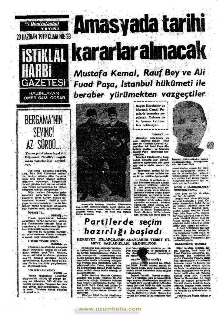 istiklal harbi gazetesi 20 haziran 1919
