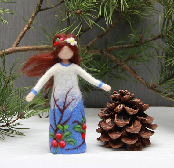 Needle felted Forest Fairy doll Waldorf Fairy doll wool