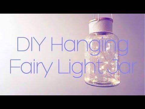 DIY Hanging Fairy Light Jar l She The Maker - YouTube
