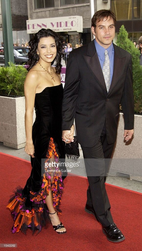 ''The Young and the Restless'' actress Eva Longoria and husband Tyler Christopher arrive on May 17, 2002 for the 29th Annual Daytime Emmy Awards at Madison Square Gardens'' Theater in New York City.