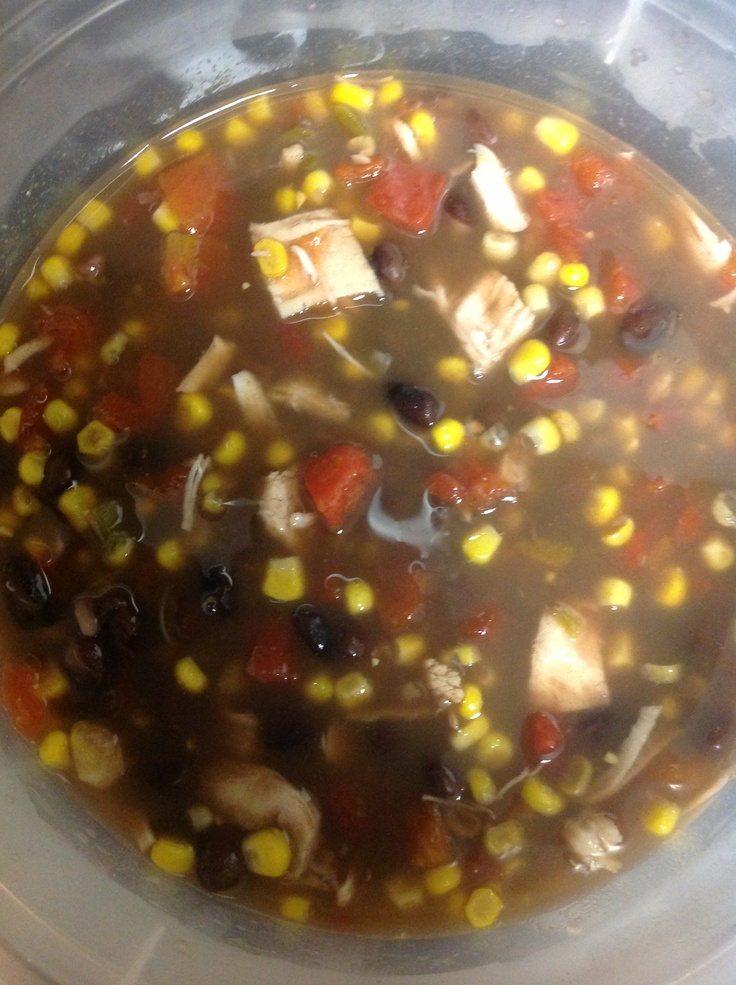 Six Can Chicken Tortilla Soup 1 (15oz) can whole kernel corn, drained ...