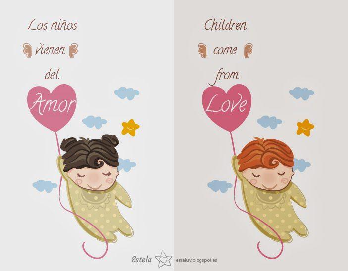 """Ilustraciones """"Los niños vienen del Amor"""" :)"""