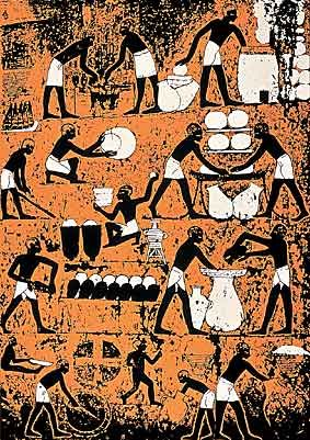 Brewing of beer. Egypt