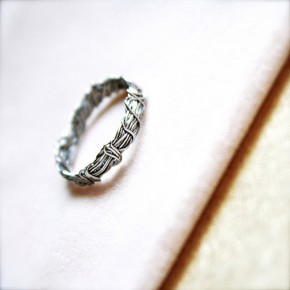 Entwined  Handwrapped Silver Ring  Dreamy Romantic by sparklethots, $26.50