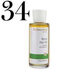 Neem Oil: Massage a few drops of neem oil into your scalp, then rinse for longer, fuller, shiner, healthier hair.