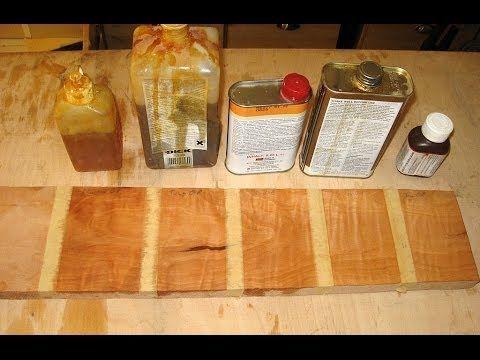 Öl Finish Vergleich - Holzwerken - YouTube