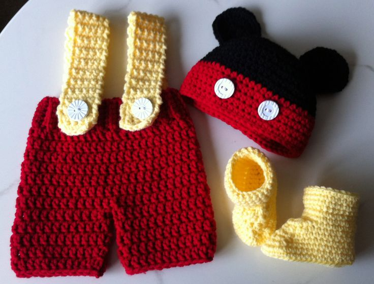 Mickey Mouse Inspired Outfits Hat Shorts by dcoycrochetsforyou, $25.00