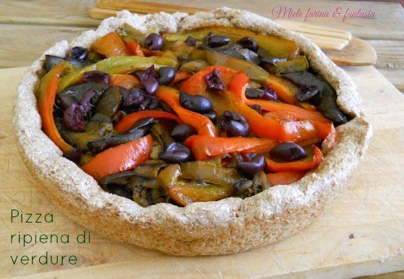 pizza integrale ripiena di verdure