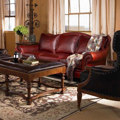 Century Century Leather Sedgwick Sofa Discount Furniture At Hickory Park  Furniture Galleries