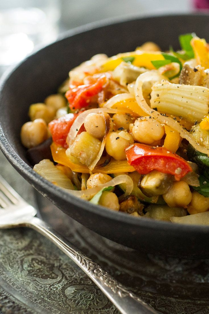 This ratatouille with chickpeas and fennel is among the best I've ever made It's a recipe for what you might call A Vegan Day Being a vegan is not my point, and anyway, it's as easy to create an unhealthy full-time vegan diet as it is to eat brilliantly as a part-time vegan