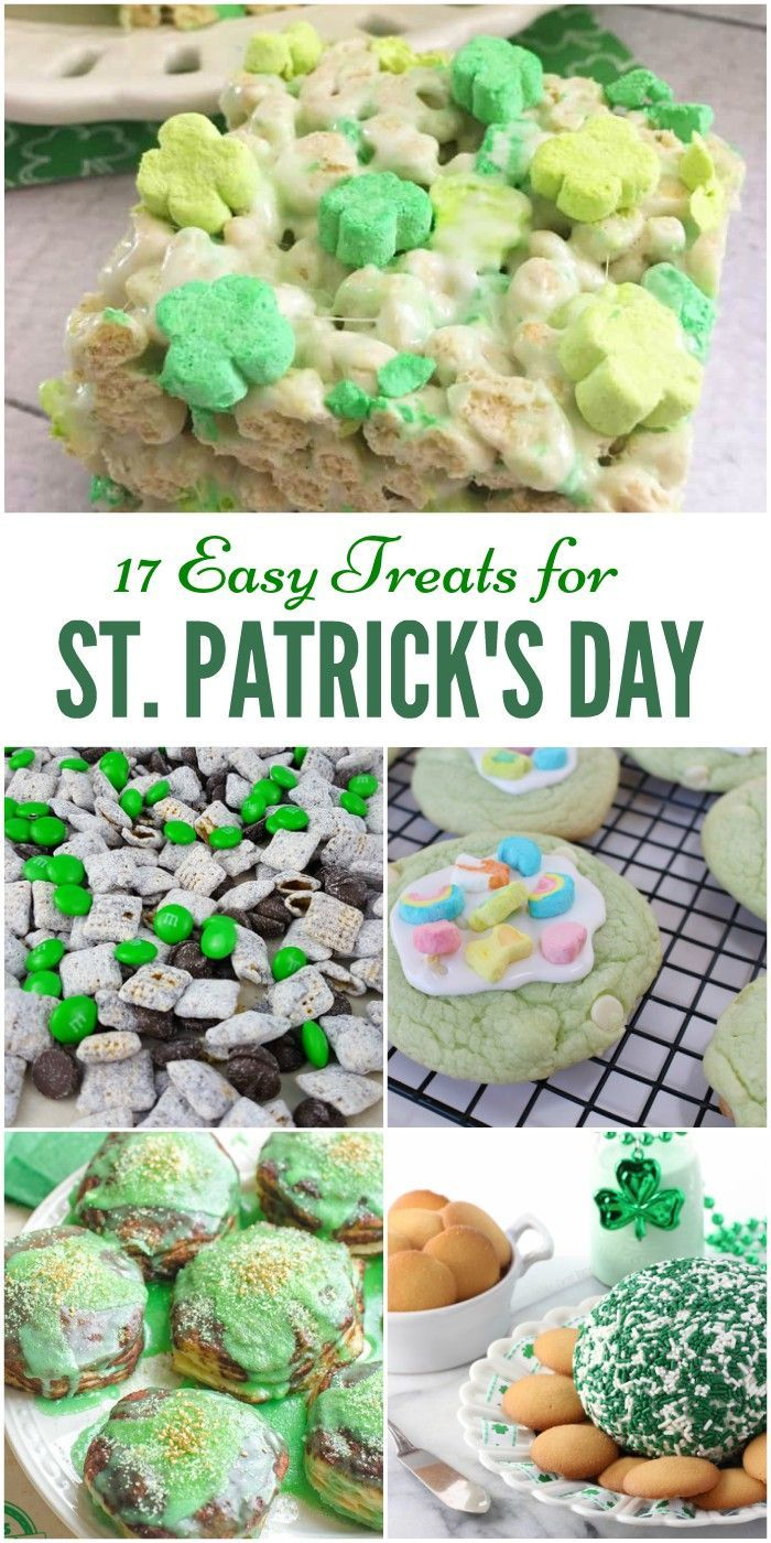 Feeling lucky? Try one of these 17 fun and festive St. Patrick's Day treats ! From minty desserts to shamrock-shaped treats, the kids will love every one!