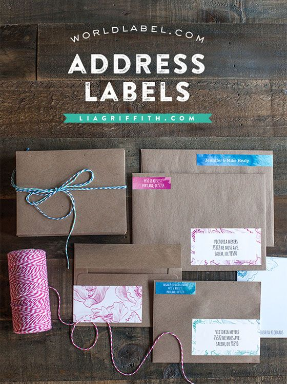 Free Printable Watercolor Address Labels