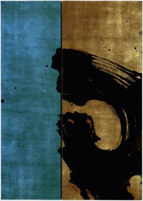 """Fabienne Verdier, """"Pierre de Méditation II"""", technique mixte et encre sur toile"""
