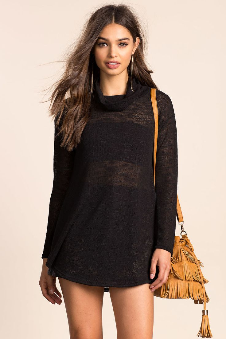 A'GACI | Fall Cowl Neck Tunic | #AgaciSoExclusive