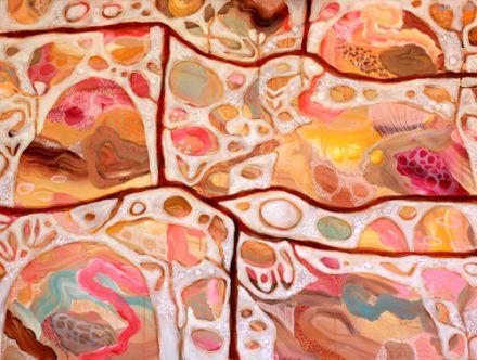 Rosetta Santucci - Drifting  (on Nina's wall)