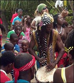 http://www.belize-vacation.com/dangriga/Drumming.html.  Drumming in Belize - a dream come true.