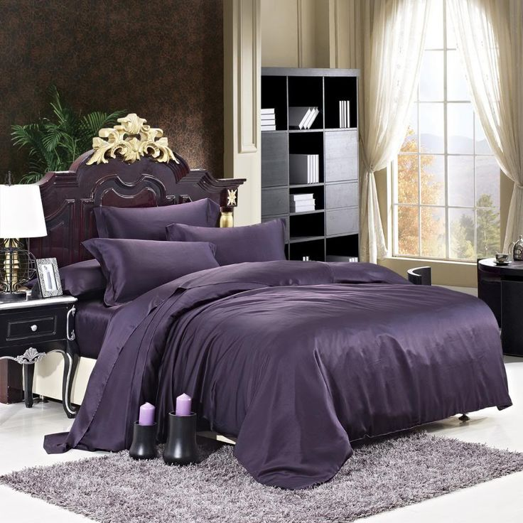 22 momme Purple Luxuer 7-Pieces Silk Bedding Collections