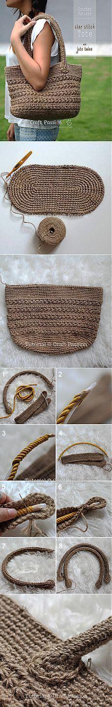 TRUNK - artistic handicraft: crochet bags - designs