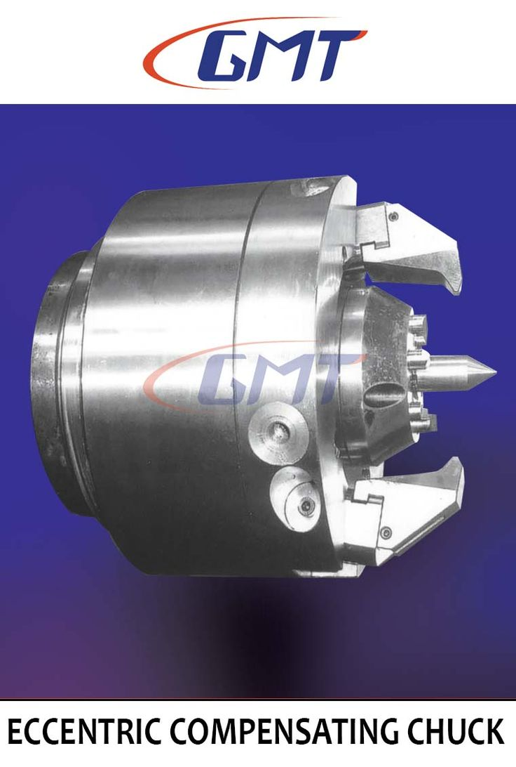Power Operated Eccentric Compensating Chuck with three / two retractable jaw chuck permits shafts, bars, forgings to be machined full length in one set up, centre to centre. In the first operation the component is gripped on the jaws. In the finishing operation the jaws are retracted and the component is driven by the face driver and OD is machined.