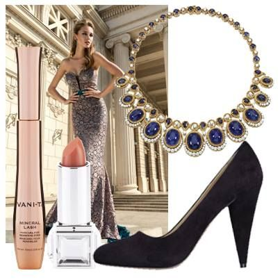 Nothing matches your Vani-T Mineral Lip Colour and Mineral Lash better than jewels and a glamorous gown. And don't forget the shoes.