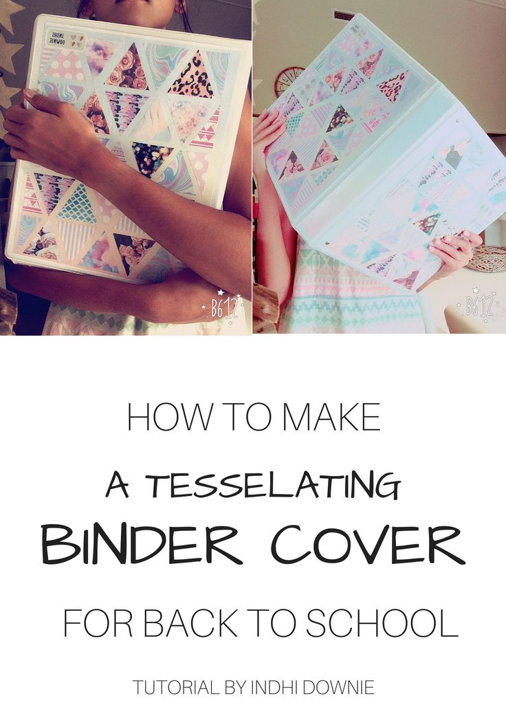 how to make your own tessellating triangles binder cover