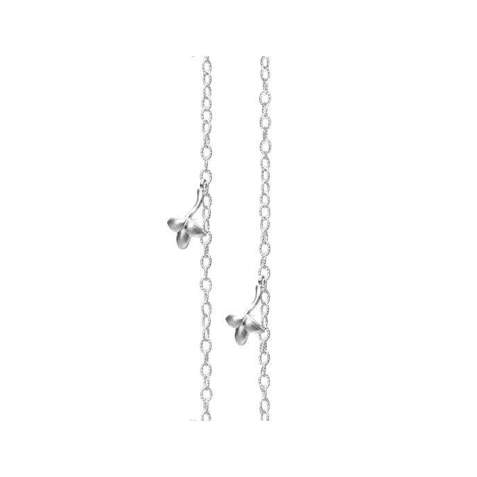 Lotus collier in 18K white gold - Colliers | OLE LYNGGAARD COPENHAGEN
