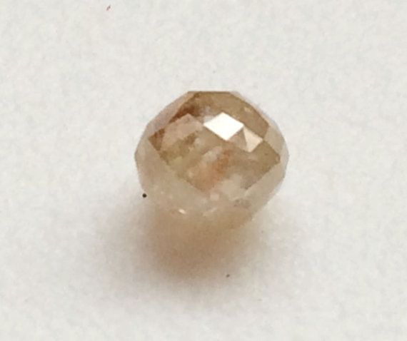 Light Champagne Faceted Diamond Balls Natural by gemsforjewels