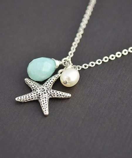 【Jewelry in My Box】This reminds me of the necklace I gave my bridesmaids. Love it! Handmade Starfilsh Nautical Necklace