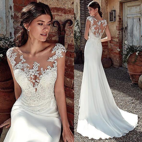 Neckline Sweetheartdresses Length Floor Lengthactual Images Nofor Pregnant Women Notrain Court In 2020 Satin Mermaid Wedding Dress Wedding Dresses Bridal Dresses